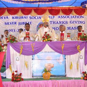 Bishop and Priests celebrating Thanksgiving Mass