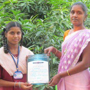 N.Nagajothi Gets certificate for Kabaadi game